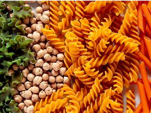 Legume-based IQF Pasta